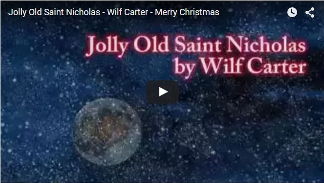 Jolly old Saint Nicholas video poem
